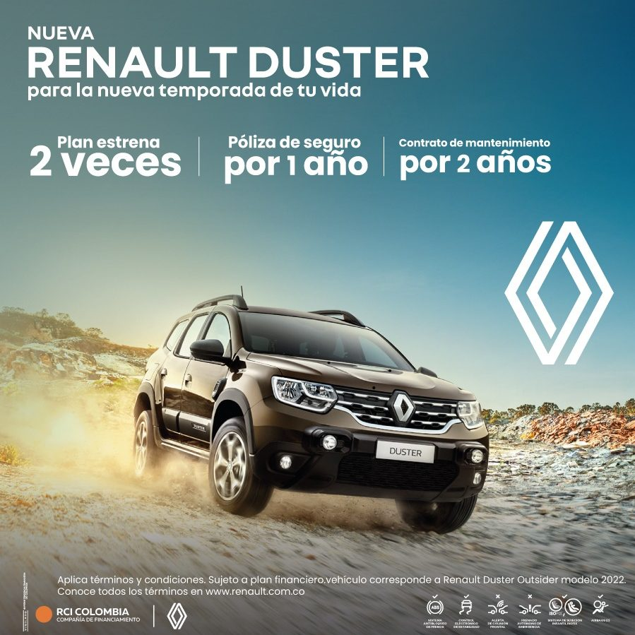 NUEVA Duster 1,3L Turbo INTENS 4X4 OUTSIDER 2022